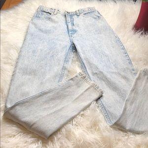 Rare acid washed jeans LA GEAR